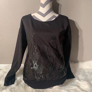 "Rock & Republic Size M Black Sweater Length 25"""